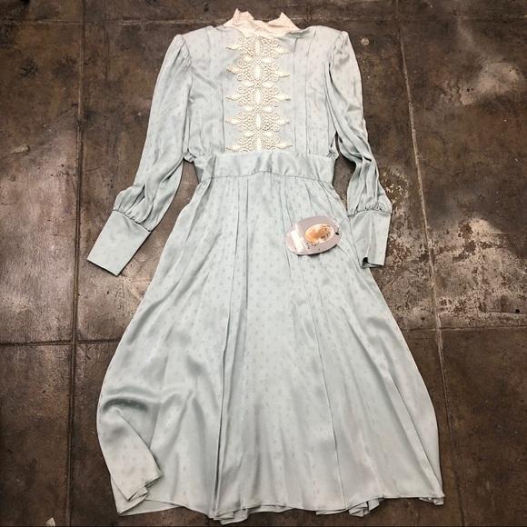 Gunne Sax Dresses & Skirts - Jessica Mcclintock Vintage Dress Silk Sage Green
